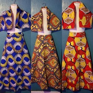 Dresses & Skirts - Gorgeous wrap skirts with matching head scarves